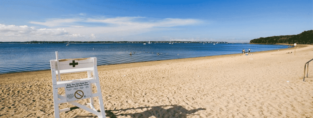 goddard park beach sunny