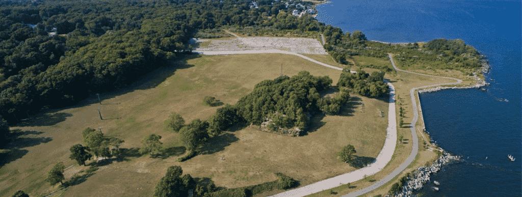 rocky point park warwick drone footage