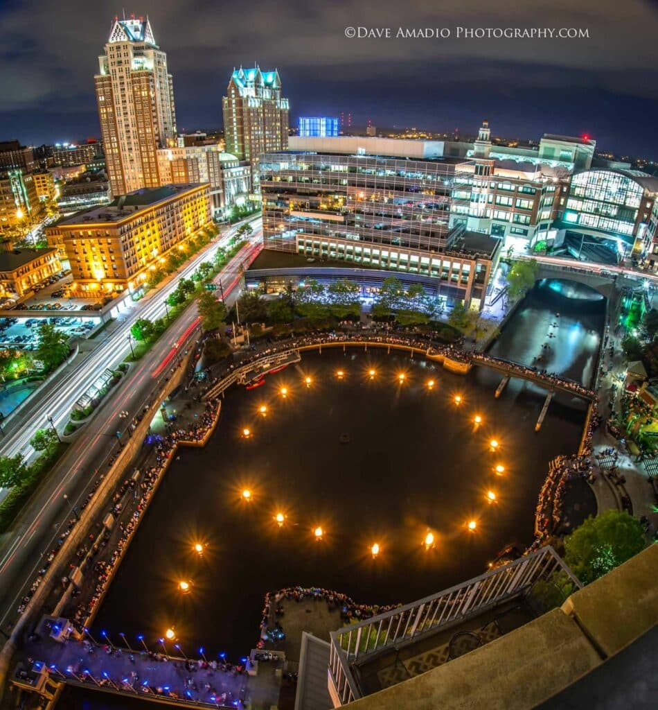 providence waterfire drone footage