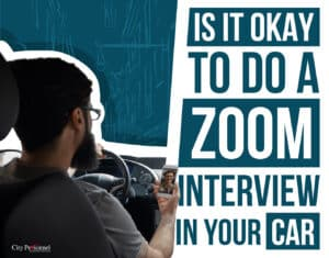 zoom interview in car