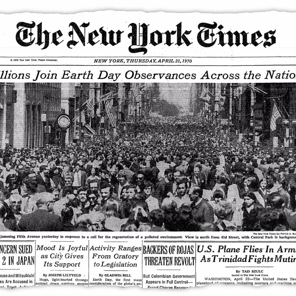 How The Times Covered the First Earth Day, 50 Years Ago - The New York Times