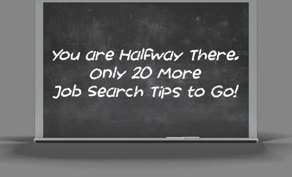 Job Search Tips Halfway