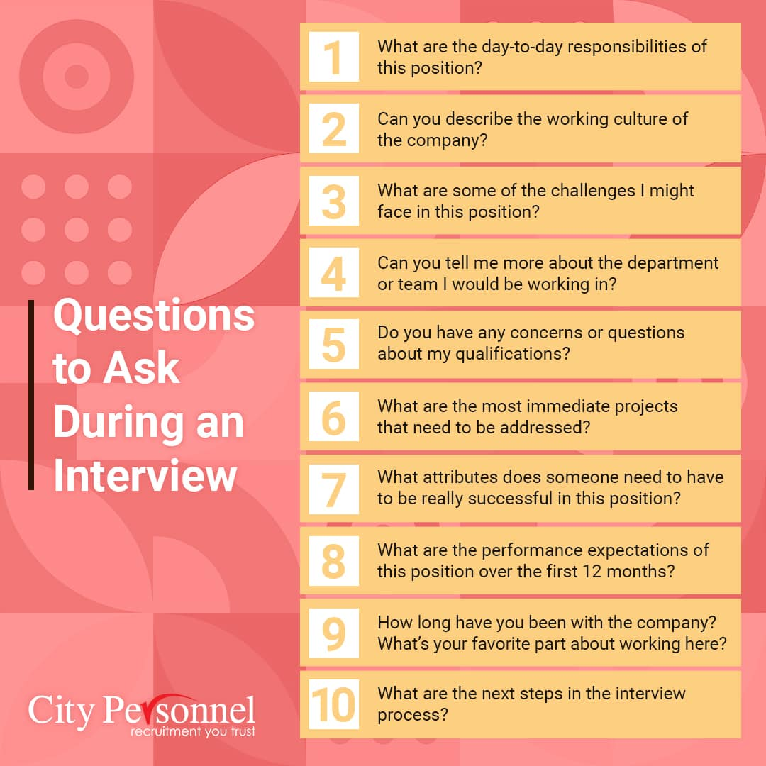 Questions to Ask During An Interview