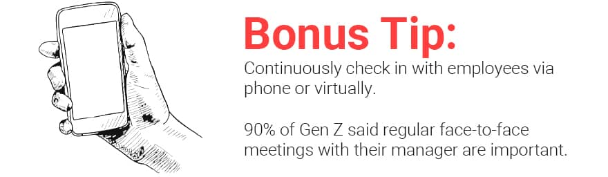 bonus tip about face to face meeting with managers