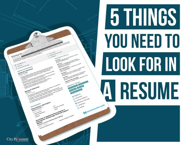 5 Things You Need to Look for in a Resume