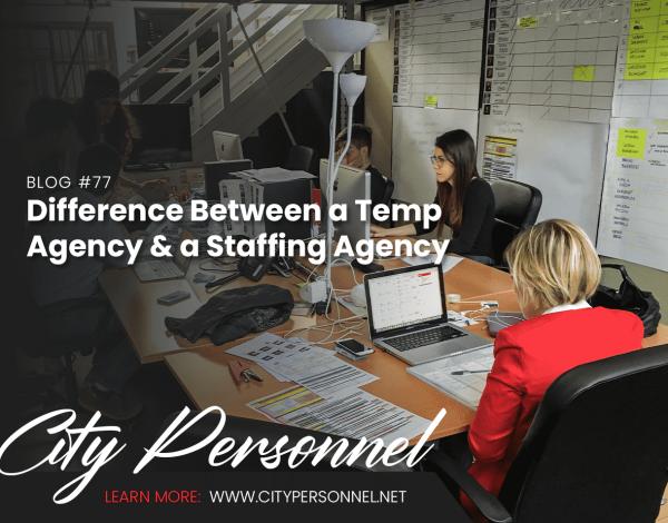 temp agency vs staffing agency